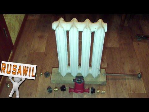 Автономное отопление своими руками. Котел из батареи для теплого пола