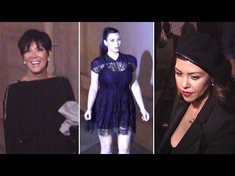 Kim And Kourtney Kardashian And Kris Jenner On Jimmy Kimmel Live