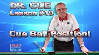 APA Dr. Cue Instruction - Dr. Cue Pool Lesson 19: Side (Lateral) Spin Practice