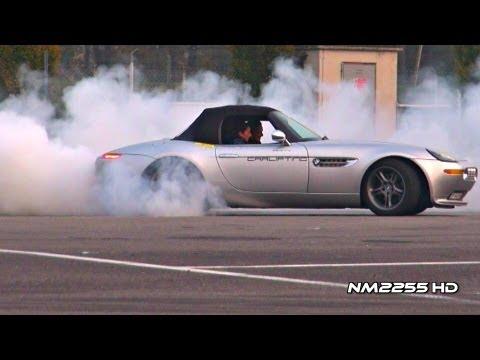 BMW Z8 Modified BMW Z8 Burnout and Revs!