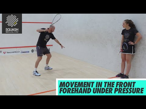 Squash tips: Movement In The Front Forehand Under Pressure with Jesse Engelbrecht