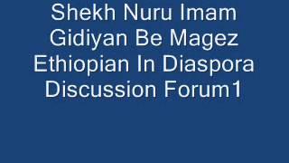 Shekh Nuru Imam Gidiyan Be Mawgez Ethiopian Diaspora Discussion Forum 1