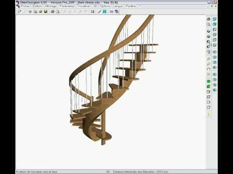 StairDesigner spiral stair in movement