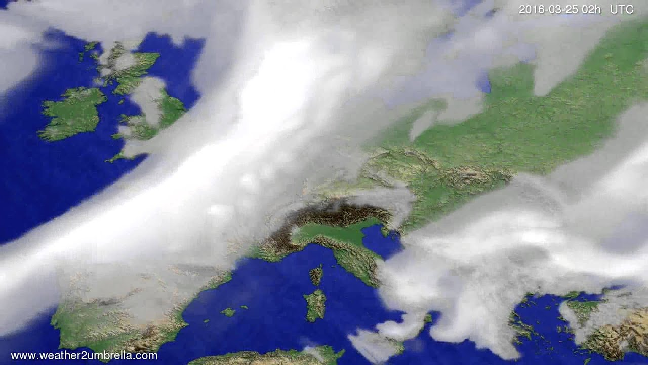 Cloud forecast Europe 2016-03-21