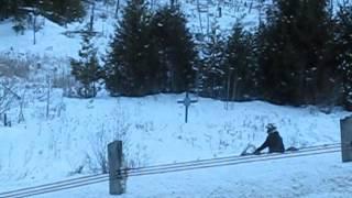 9. Arctic Cat 800 triple Pantera climbs a hill