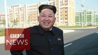 North Korea leader Kim Jong-un 'in public' - in 45 secs - BBC News