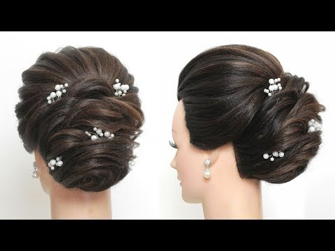 New Hairstyle For Girls. Party Updo For Long Hair Tutorial