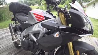 6. 2017 Aprilia Tuono V4 1100RR in Portimao Grey w/SC Project Race Oval Exhaust (Current bike)