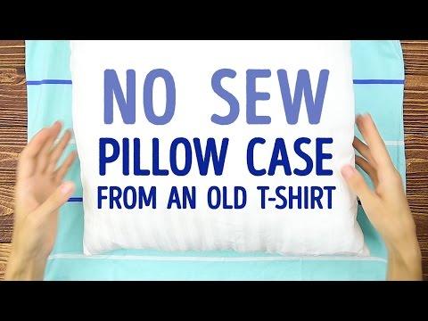 come trasformare una vecchia t-shirt in un cuscino