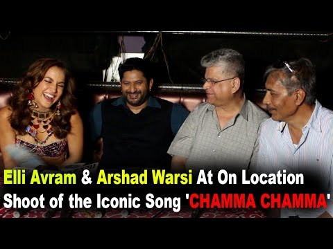 Elli Avram & Arshad Warsi At On Location Shoot of the Iconic Song 'CHAMMA CHAMMA'