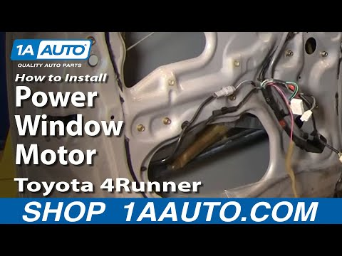 How To Install Replace Rear Power Window Motor Toyota 4 Runner 96-02 1AAuto.com