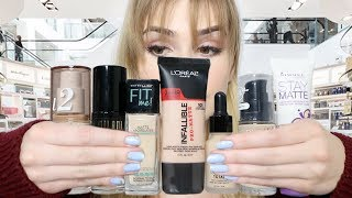 "Video Trying 7 of ""The Best"" DRUGSTORE FOUNDATIONS For A WEEK! 