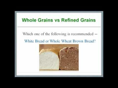 What's In Our Food 6 - Carbohydrates - Whole Grains versus Refined Grains