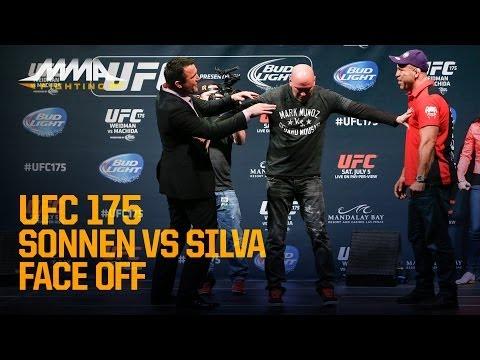UFC 175: Chael Sonnen, Wanderlei Silva Have Heated Staredown
