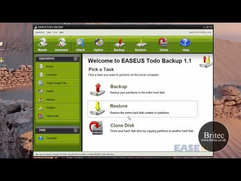 EASEUS Todo - Free computer backup and restore software by Britec