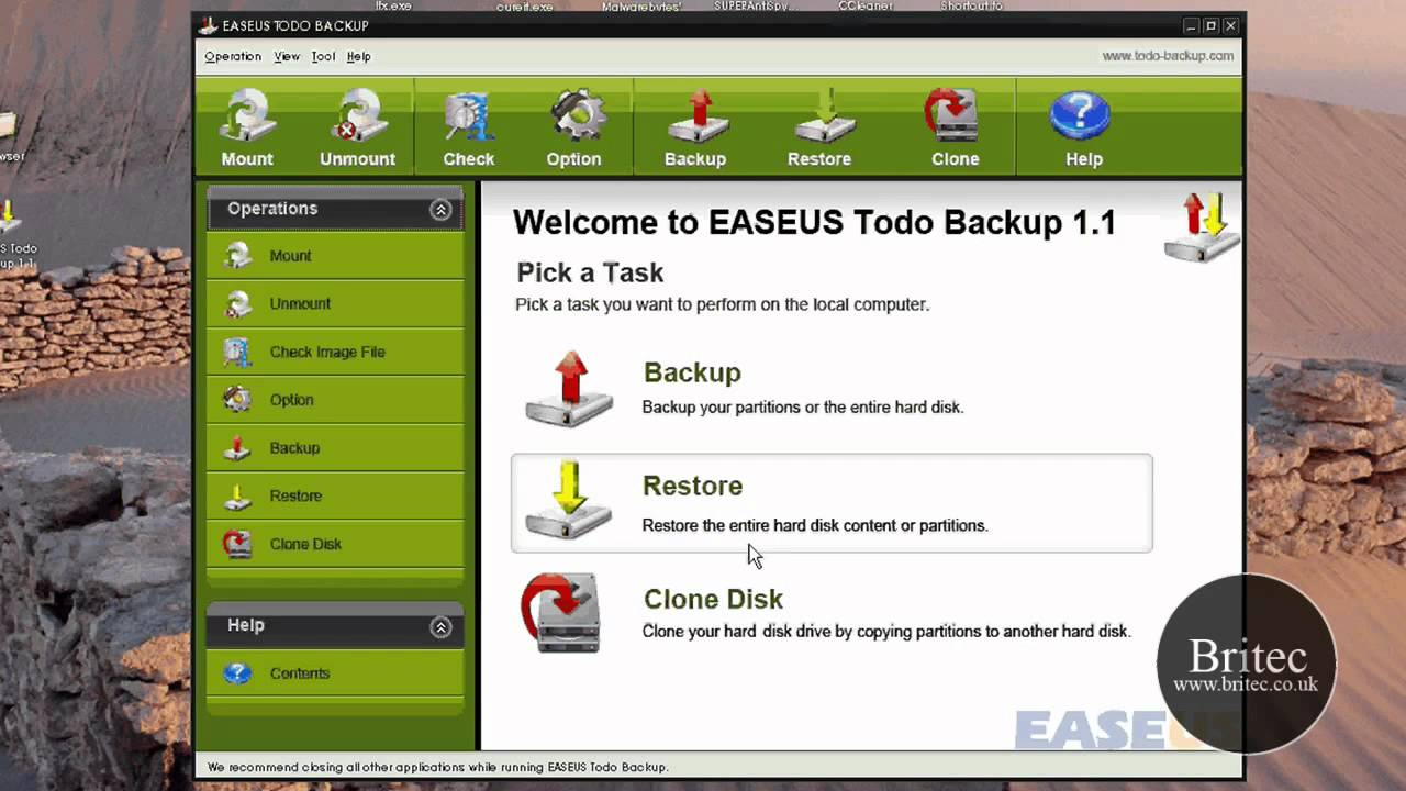 EASEUS Todo – Free computer backup and restore software by Britec