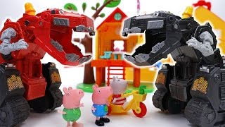 Video Go Go Dinotrux~! D-Structs is Bullying Peppa Pig Friends MP3, 3GP, MP4, WEBM, AVI, FLV Desember 2017