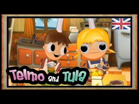 Telmo and Tula – Chocolate cake recipe to cook with kids. Children cartoon show