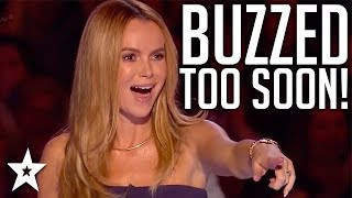 Video When Judges BUZZ Too Soon! | Britain's Got Talent | Got Talent Global MP3, 3GP, MP4, WEBM, AVI, FLV Februari 2019