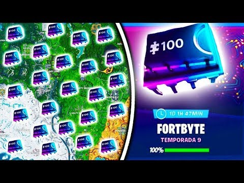 All Fortbytes Unlocked In Fortnite!! See The Hidden Image Behing The Puzzle