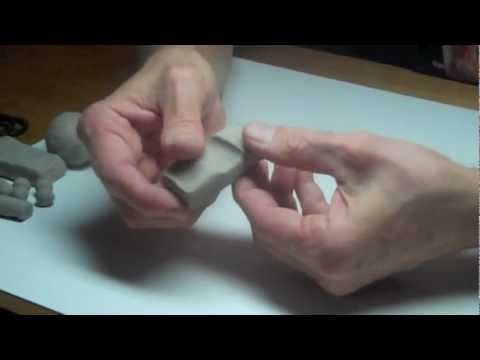Modeling - Learn clay sculpture with professional sculptor Chuck Oldham at http://www.LearnSculpture.org. Learn how to sculpt with modeling clay using simple geometric ...