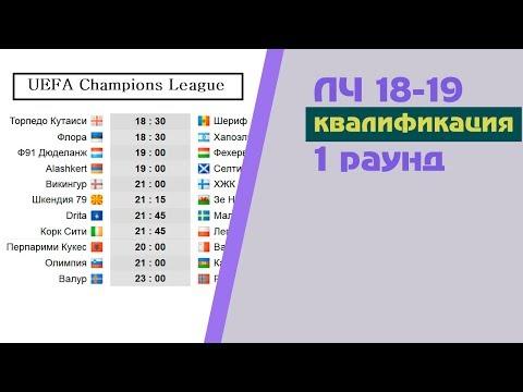 Футбол. Лига Чемпионов 2018-2019. 1 раунд квалификация. Результаты. Расписание. - DomaVideo.Ru