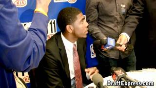 Kyrie Irving - 2011 NBA Draft - Media Day Interview