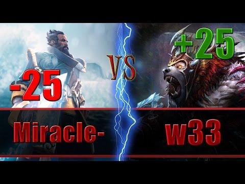 w33 plays Ursa vs Miracle- as Kunkka 8 MIN beyond GODLIKE - Dota 2