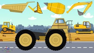 Video Construction Machinery #Excavator, Dump Truck, Bulldozer, Concrete mixer | video for kids MP3, 3GP, MP4, WEBM, AVI, FLV Juni 2018