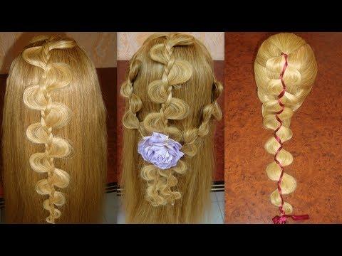 Прически на длинные волосы с плетением видео мастер класс