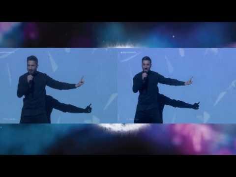 Сравнение выступлений Сергея Лазарева в полуфинале и финале конкурса Евровидение 2016 (видео)