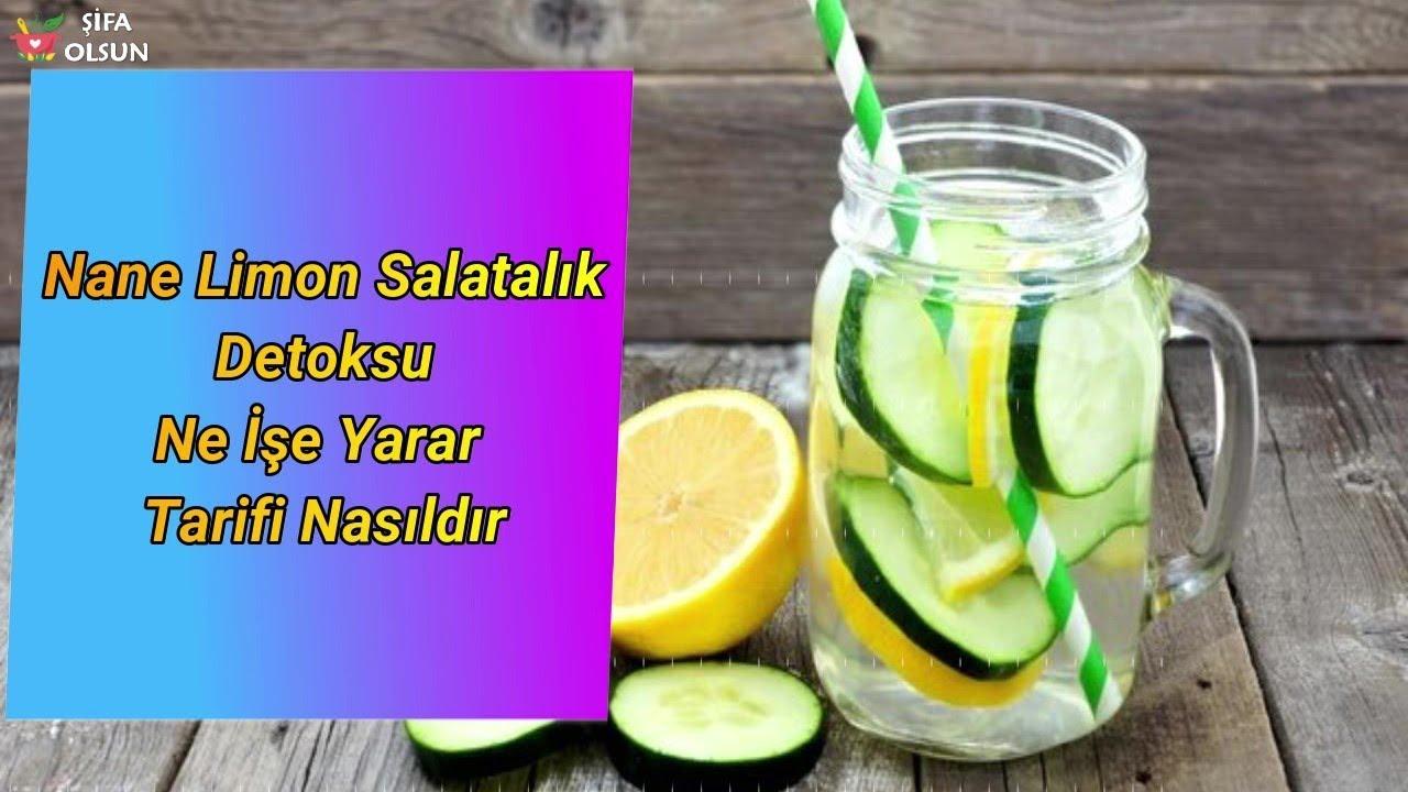 Nane Limon Salatalık Detoksu Ne İşe Yarar Tarifi Nasıldır?