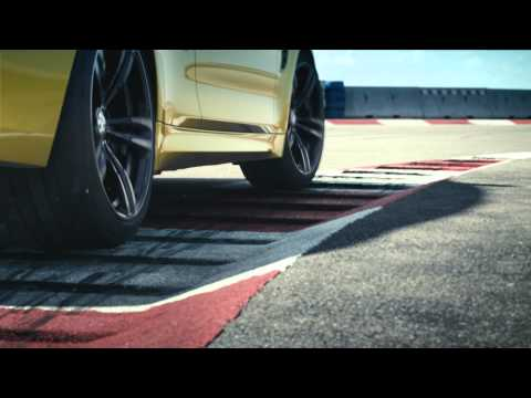 2015 BMW M4 Drifts On A Aircraft Carrier