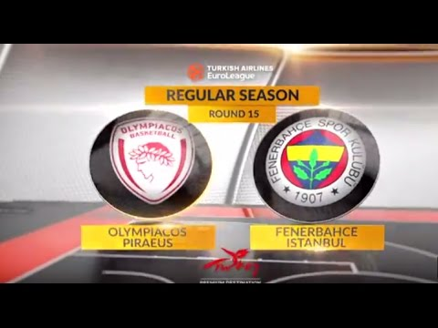 EuroLeague Highlights RS Round 15: Olympiacos Piraeus 71-62 Fenerbahce Istanbul