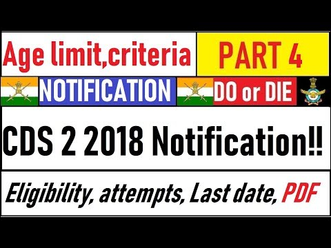 CDS 2 2018 Notification Out | Age Limit, Vacancy, Attempts, Eligibility, Strategy, Last Date