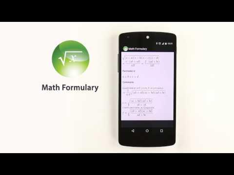 Video of Math Formulary PRO