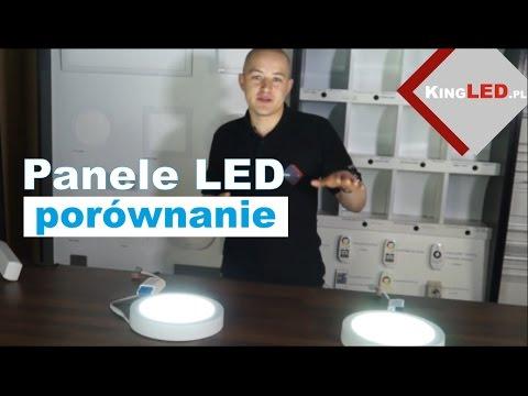 Panele downlight LED - porównanie