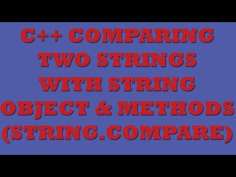 C++ String Comparison (using String.Compare, String Methods, Loops)