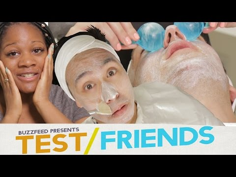 People Get Facials For The First Time • The Test Friends (видео)