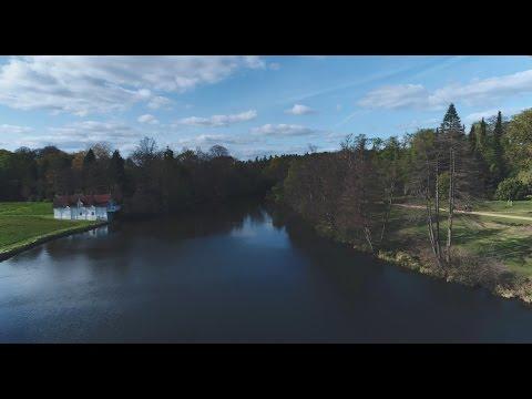 Virginia Water lake and gardens (from DJI Phantom4 Pro drone)