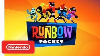 Runbow Pocket is a fast, frantic game where you can conquer over 145 levels in Adventure and The Bowhemoth, or go head-to-head in Run, Arena, and King of the Hill online. The world changes with each swipe of color, so you'll have to stay on your toes as platforms and obstacles disappear. Now available on the Nintendo eShop and select retailers!Learn more about Runbow Pocket! https://goo.gl/7AC2C0#Nintendo3DS #RunbowPocketSubscribe for more Nintendo fun! https://goo.gl/09xFdPVisit Nintendo.com for all the latest! http://www.nintendo.com/Like Nintendo on Facebook: http://www.facebook.com/NintendoFollow us on Twitter: http://twitter.com/NintendoAmericaFollow us on Instagram: http://instagram.com/NintendoFollow us on Pinterest: http://pinterest.com/NintendoFollow us on Google+: http://google.com/+Nintendo