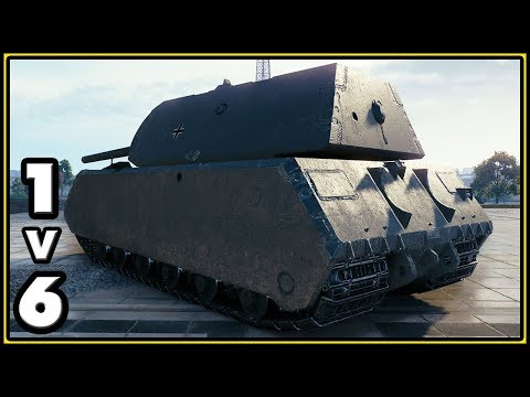 Maus - 11642 Damage - 1 vs 6 - World of Tanks Gameplay