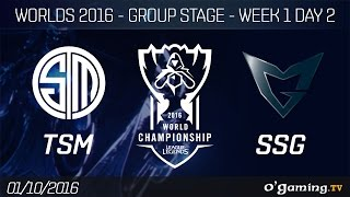 TSM vs SSG - World Championship 2016 - Group Stage Week 1 Day 2