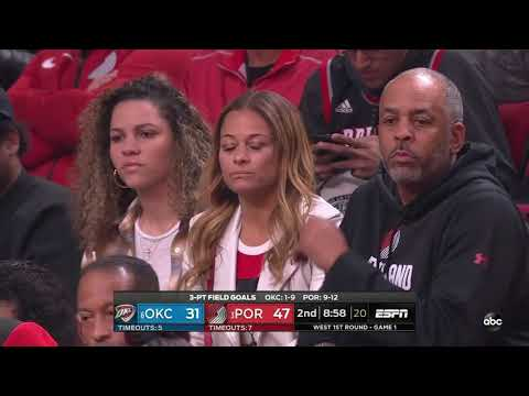 Maurice Harkless 04/14/2019 Oklahoma City Thunder vs Portland Trail Blazers Highlights