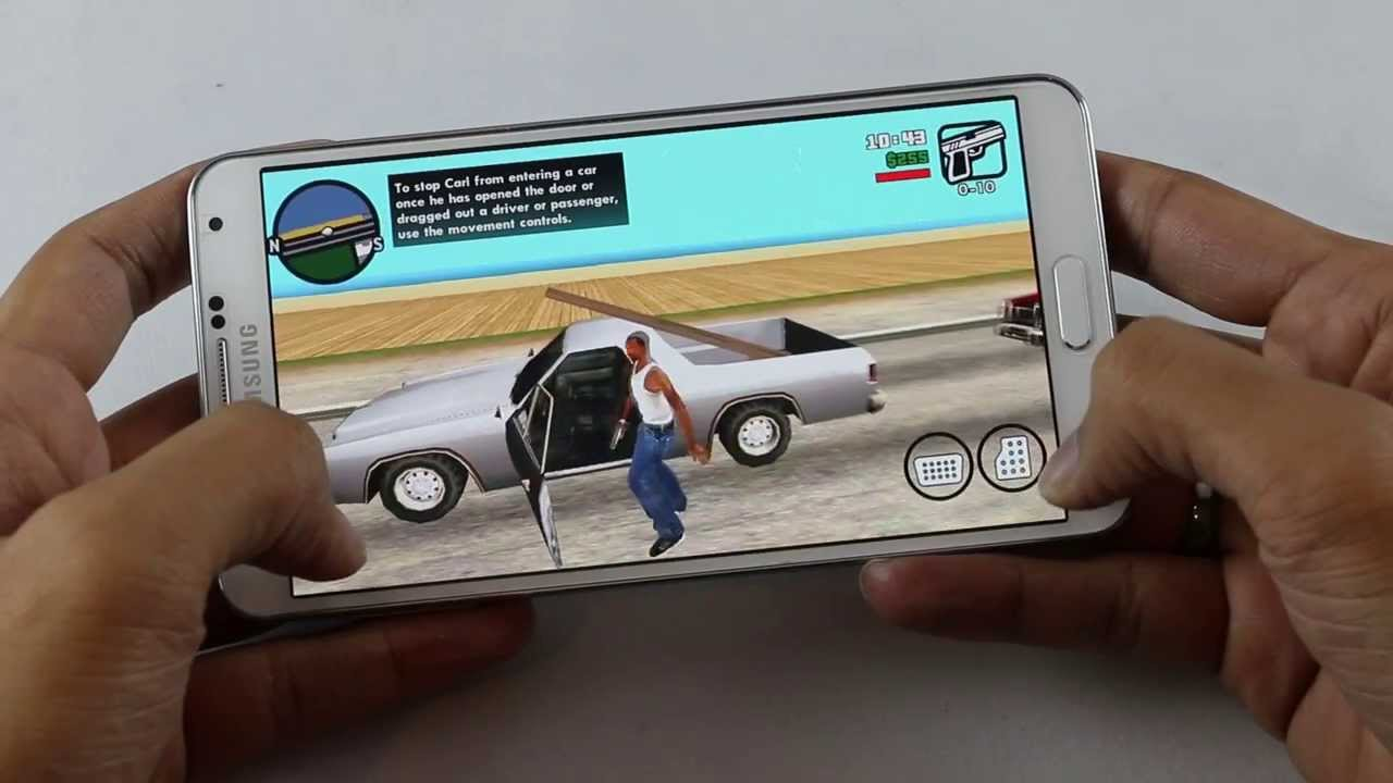 Descargar GTA San Andreas Gameplay on Android (Galaxy Note 3) para Celular  #Android