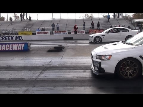 BMW M3 vs EVO X GSR 560hp