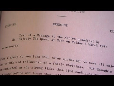 1983 National Archive: Queen's speech in event of nuclear war