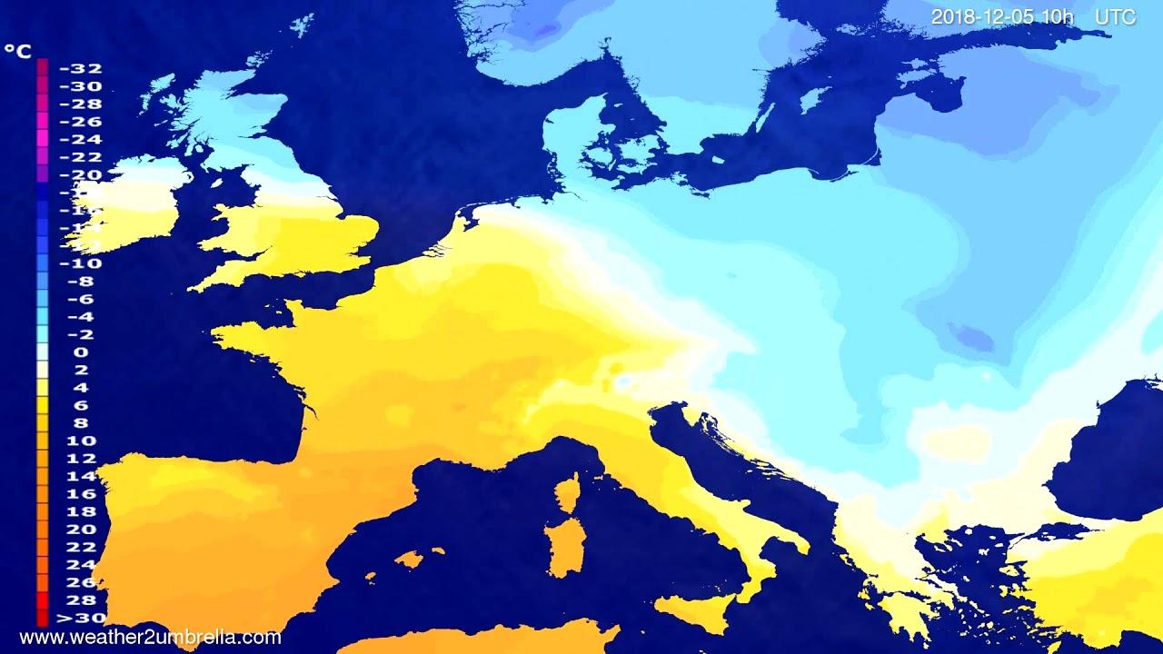 Temperature forecast Europe 2018-12-02