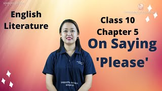 Chapter 5 - On Saying 'Please'