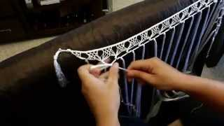 Tira de flecos para escote del traje de flamenca, realizada a mano, se muestran todos los pasos, entra en www.facebook.com/mantonestereflamenca para ver mas flecos.
